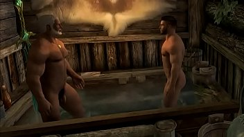 Skyrim Hot Bath after the Battle