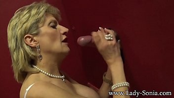 Mature ladies tv Busty british mature lady sonia visits a gloryhole