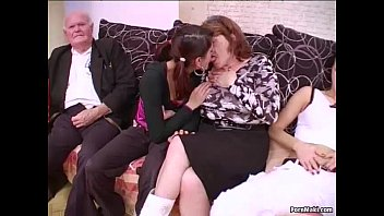 Teen and granny porn - Group sex with grannies