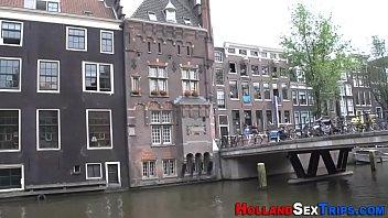 Dutch whore swallows cum