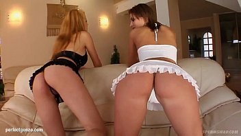 Blowjob cum swap - Carmen and krystal in hardcore fuck and cum swapping scene from sperm swap