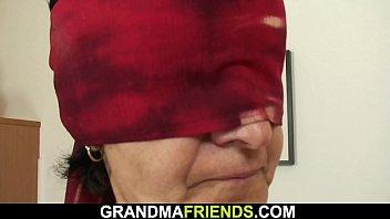 Old shaggy granny threesome