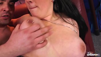 Chubby brunette offer her pussy to fake agent on casting Image