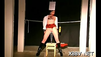 Bra buddies torture and pussy bdsm toying for woman in heats