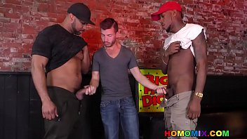 Gay nightclub owner takes two big fat cocks