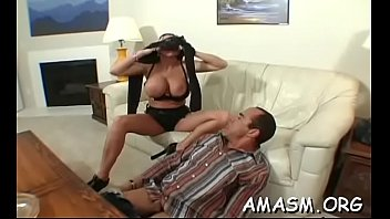 Dishy gal enjoys sex action