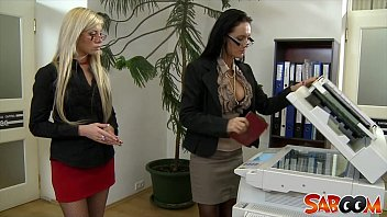 Lesbo galore - Office lesbians go at it