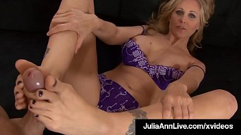 Mouth Fucking Foot Fox Julia Ann Spits Jizz On Feet After BJ