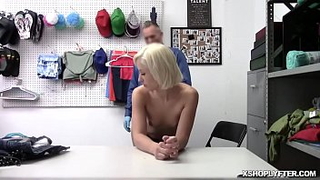 Hard anal banging inside the office with a sexy thief Goldie Glock