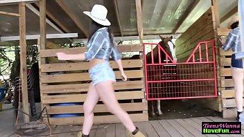 Cowgirl Teens Ride Dick
