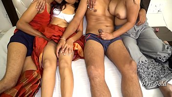 Two Indian Bhabhi Fucking in Group Sex Party