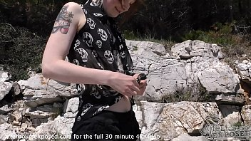 risky lesbian pussy licking and playing on croatian beach thumbnail