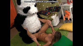 Hunting sexy panda bear Sex toy party with a horny panda bear