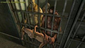 3d predator fuck Lara croft fuck toy in prison 3d porn