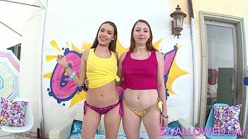 Swallowed Teens Arietta And Naomi Swallow It All