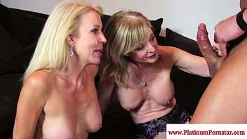 Nina Hartley and Erica Lauren taste cum