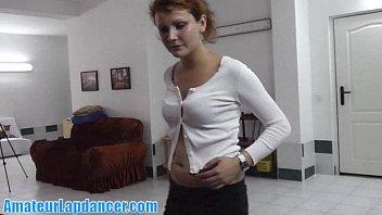 Elegant redhead lapdancing for me