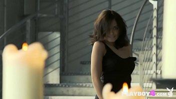 Sexy big boobs latina teen model dancing and posing