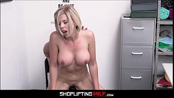 Amber tits - Big tits blonde milf shoplifter amber chase sex with officer after deal is made