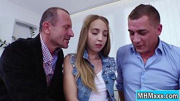 Teen advic Anya akulova gets a double penetration