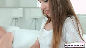 Nude rites - Natural sapphix lesbian teens arina rite, elle rose make out tender on the sofa
