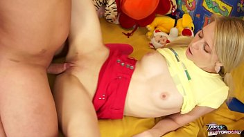 Naive innocent blonde drilled hard by older stranger