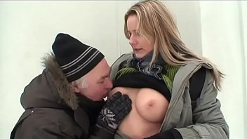 Drinking cum is good on the snow