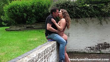 Teens and babes - Sexy teen bunny gets nailed outdoors by senior philippe