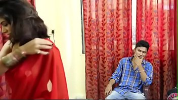 Boy Watching HOT Indian Desi Bhabhi Bra Changing in Hindi