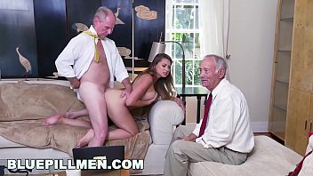 Old mens big cocks Blue pill men - young pawg ivy rose stuffed with geriatric cock