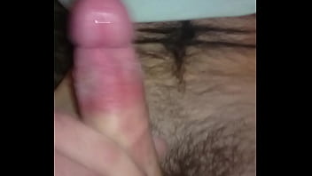 Rubber pussy jerking off with cum