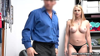 Milf Sarah Vandella defies the Corono Virus and goes shoplyfting! But Vandella is caught and faces prosecution unless she sucks the LP's cock!