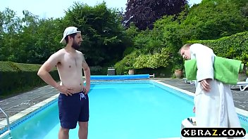 Busty Chantelle magical swimming pool transformation thumbnail