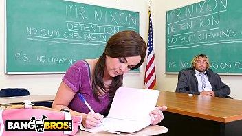 BANGBROS - Teen Dillion Harper Squirts All Over Teacher&039;s Dick In Detention! [선생님 teacher]