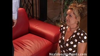 Cock hungry mother fucked on the couch