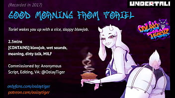 [UNDERTALE] Toriel - Good Morning Blowjob   Erotic Audio Play by Oolay-Tiger 2分钟