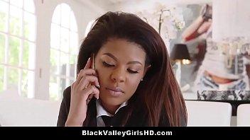 Stunning Ebony Schoolgirl Zoey Reyes Fucked Hard By A Big White Cock