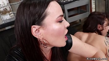 Brunette anal fucking lesbian slaves