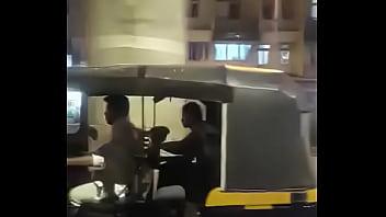 Fakeauto couple blowjob in Mumbai autorickshaw part 2