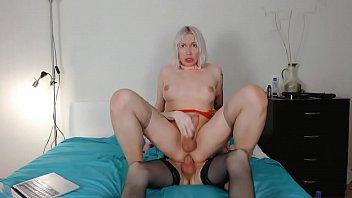 Hot amateur Lesbian shemales Eva Lynx and Clara Blitz plays on webcam bareback sex part 4