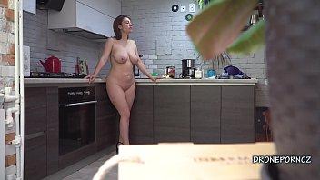 Gadget the mouse nude Czech milf gadget- hidden spy cam in the kitchen