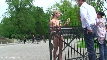 Nips nude - Hot public nudity with sweet blonde