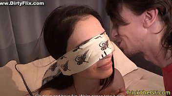 Blindfolded tricked nude Petite gf tricked into fucking a stranger