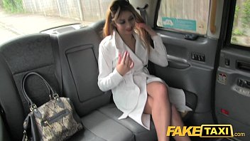 Busty blowjob in car tube movies Faketaxi sexy lady in fishnet lingerie