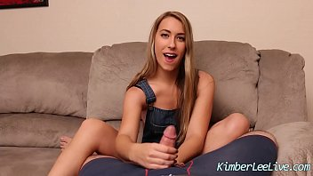 Big breast handjob - Teen kimber lee jerks off her step dad for revenge