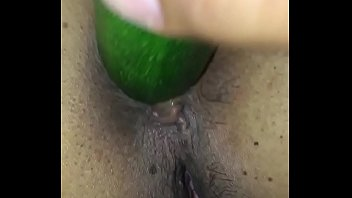 Playing with girlfriends pussy - Playing with girlfriends pussy with veggie
