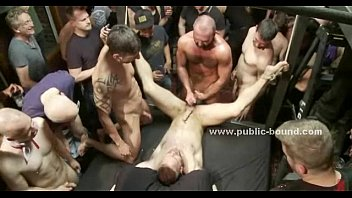 Gay dragged in magic extreme group sex