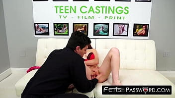 Redhead teen Macy Monroe pounded and facialized in casting