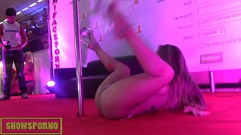 Nude pole dancing tube Blonde pole dancer show