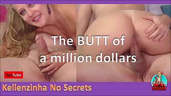 the butt of a million dollars - cowgirl, deep throat, finger in the ass and a huge cock eating Kellenzinha